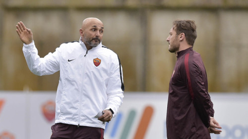 Luciano Spalletti Leads His First Training Session As New As Roma Coach